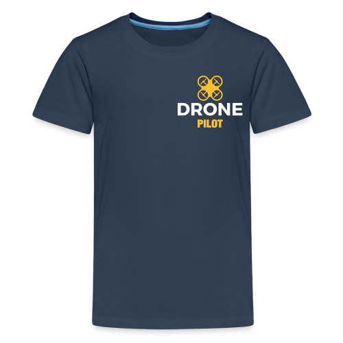 T-shirt: Making Aerial Footage (teen) | Navy - Teenager Premium T-shirt