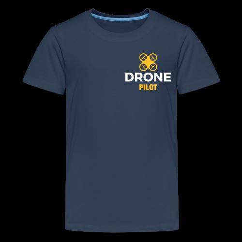 T-shirt: Making Aerial Footage (teen) | Navy - Teenager Premium T-shirt