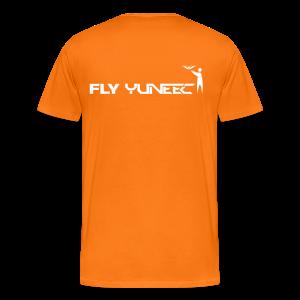 T-shirt: Fly Yuneec (men) | Orange - Mannen Premium T-shirt