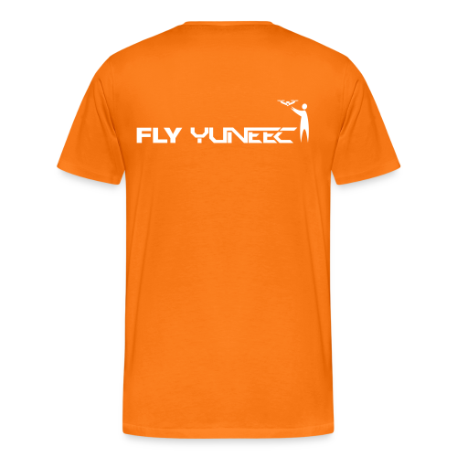 T-shirt: Fly Yuneec (men) | Orange - Mannen Premium T-shirt