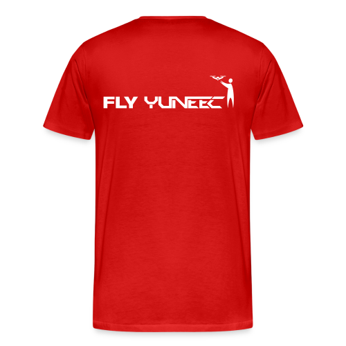 T-shirt: Fly Yuneec (men) | Red - Mannen Premium T-shirt