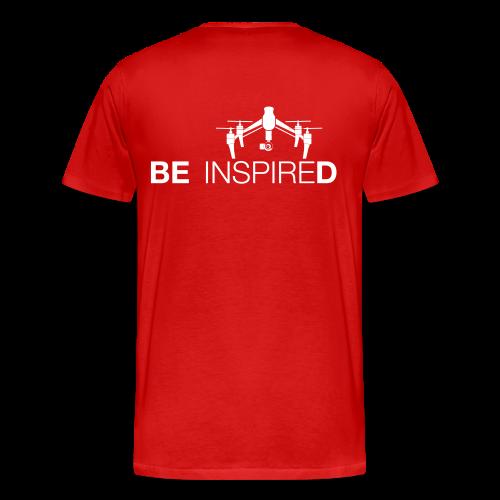 T-shirt: Be Inspired (men) | Red - Mannen Premium T-shirt