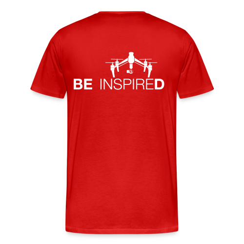 T-shirt: Be Inspired (men) | Red - Mannen Premium T-shirt