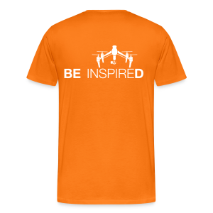 T-shirt: Be Inspired (men) | Orange - Mannen Premium T-shirt