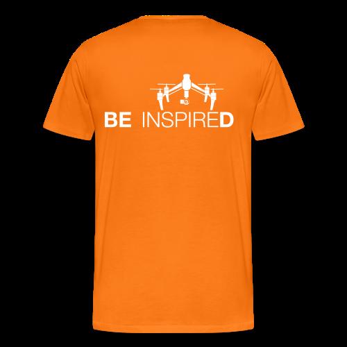 T-shirt: Be Inspired (men) | Orange - Mannen Premium T-shirt