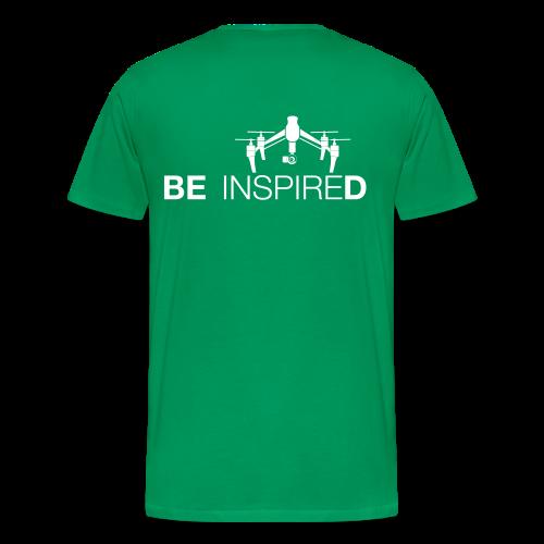 T-shirt: Be Inspired (men) | Green - Mannen Premium T-shirt