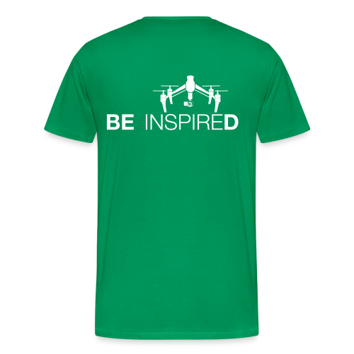T-shirt: Be Inspired (men) | Green - Mannen Premium T-shirt