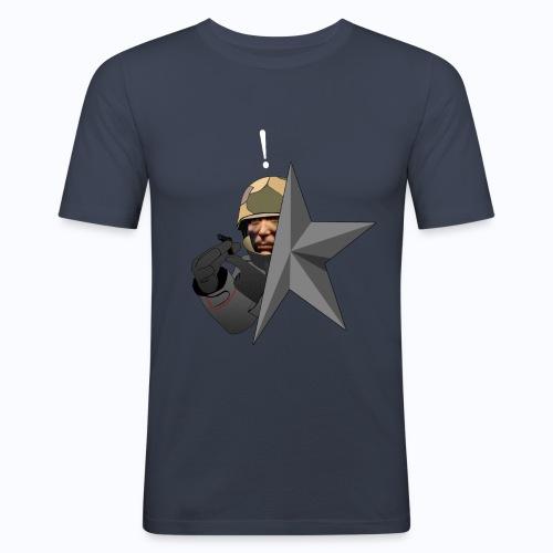 Kolibri Service Star (BLACK SHIRT) - Men's Slim Fit T-Shirt