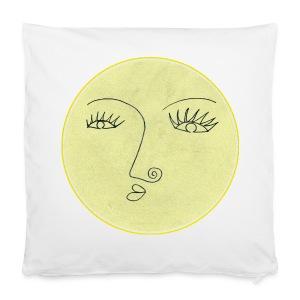 Vollmond - Gesicht - Kissenbezug 40 x 40 cm