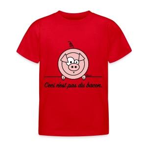 T-shirt BC Enfant Cochon Ceci n'est pas du Bacon Végan - T-shirt Enfant