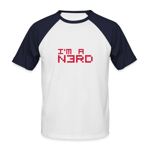 I AM A N3RD - Männer Baseball-T-Shirt