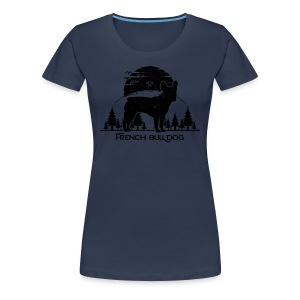 French Bulldog Forest - Frauen Premium T-Shirt
