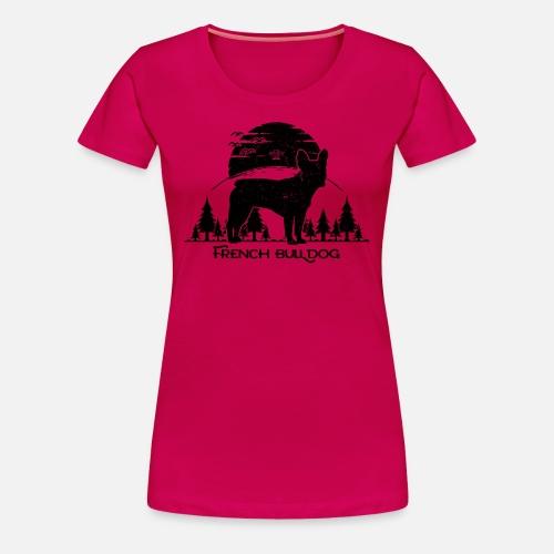 French Bulldog Forest - Frauen Premium T-Shirt