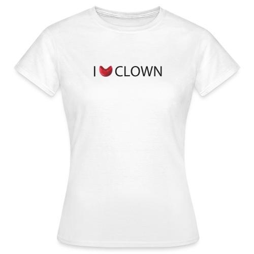 Camiseta Mujer I love Clown - Camiseta mujer