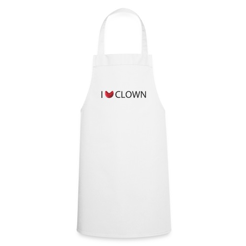 Delantal I love Clown - Delantal de cocina