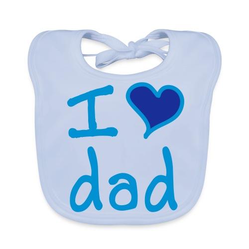 Slabbetje I Love Dad - Bio-slabbetje voor baby's