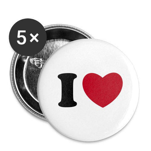 Button I Love - Buttons klein 25 mm (5-pack)