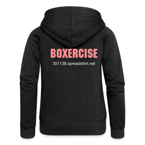 BOXER CHICK2 - Women's Premium Hooded Jacket