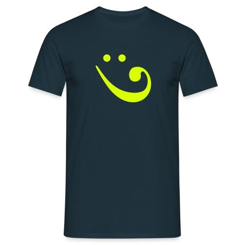 Grinse-Basschlüssel - Männer T-Shirt