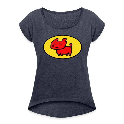 digidog - Frauen T-Shirt mit gerollten Ärmeln