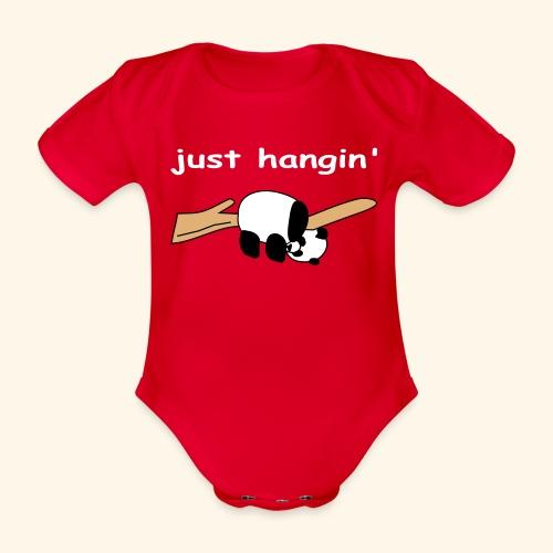 Just Hangin' Panda - Organic Short-sleeved Baby Bodysuit