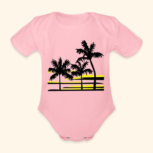 Caribbean pirate - Organic Short-sleeved Baby Bodysuit
