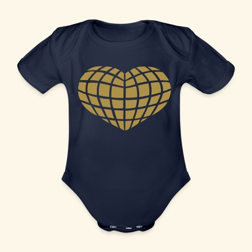 Disco Heart (yes I glitter!) - Organic Short-sleeved Baby Bodysuit