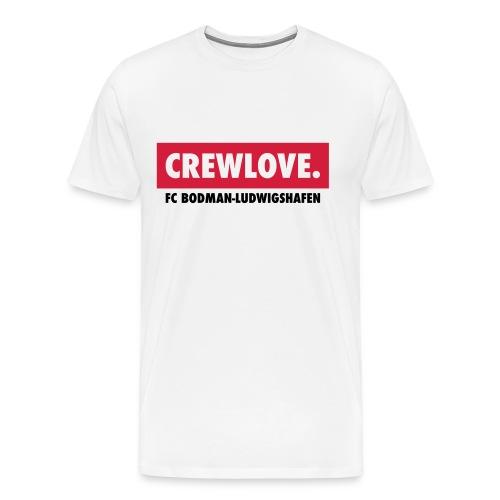 Männer-T-Shirt Crewlove weiß zweifarbig - Männer Premium T-Shirt