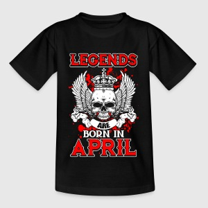 April - legend - birthday - EN Shirts - Teenage T-shirt