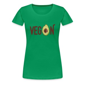 Trendy Vegan Avocado Grunge Style Text - Frauen Premium T-Shirt