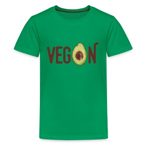 Trendy Vegan Avocado Grunge Style Text - Teenager Premium T-Shirt