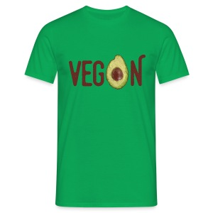 Trendy Vegan Avocado Grunge Style Text - Männer T-Shirt