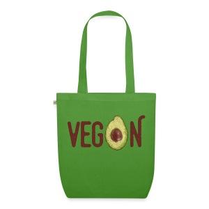 Trendy Vegan Avocado Grunge Style Text - Bio-Stoffbeutel