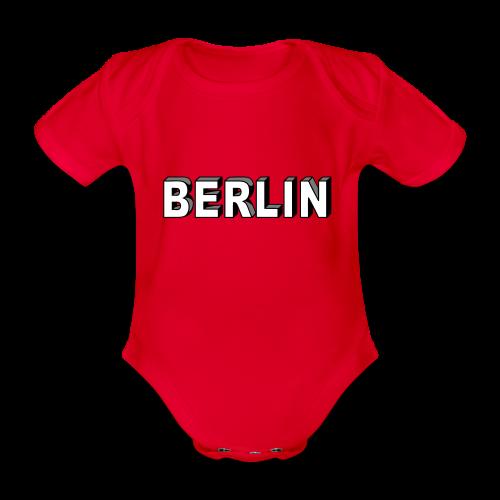 BERLIN Blockschrift - Baby Bio-Kurzarm-Body