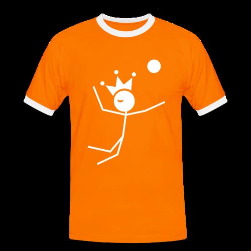 Volleybalkoning Contrastshirt - Mannen contrastshirt