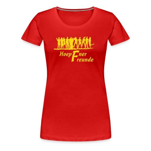 Hoepfner Lady-Shirt 2016 -- gelbe Schrift - Frauen Premium T-Shirt