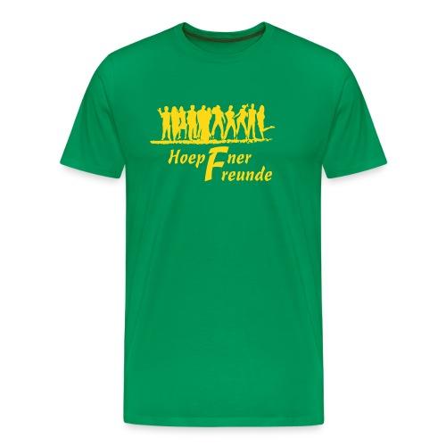 Hoepfner Herren-Shirt 2016 -- gelbe Schrift - Männer Premium T-Shirt