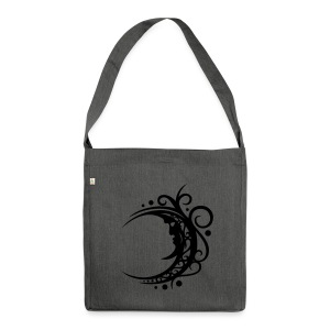 Großer Mond mit Tribal Ornament. Sehr filigran.  - Schultertasche aus Recycling-Material