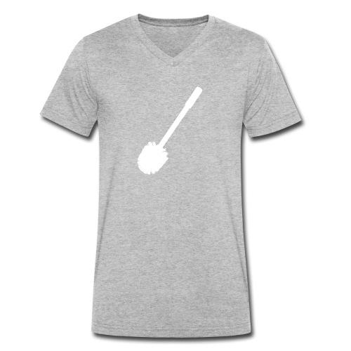 Pleeborstel mannen v-hals bio - Mannen bio T-shirt met V-hals van Stanley & Stella