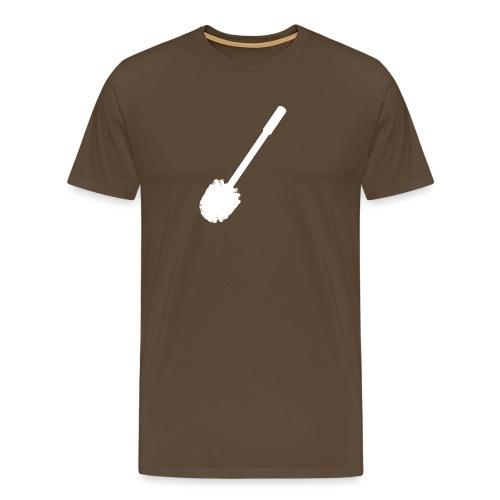 Pleeborstel mannen premium - Mannen Premium T-shirt