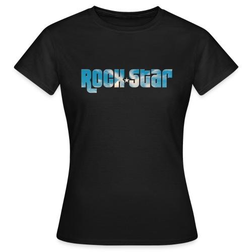 Typo Rock Star - T-shirt Femme