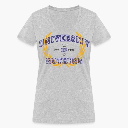 University of Nothing - Frauen T-Shirt mit V-Ausschnitt - Frauen Bio-T-Shirt mit V-Ausschnitt von Stanley & Stella