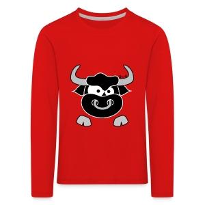 T-shirt ml P Enfant Tête Taureau, Bull, Force, Zodiaque - T-shirt manches longues Premium Enfant