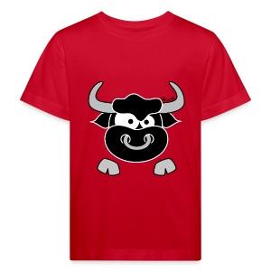 T-shirt Bio Enfant Tête Taureau, Bull, Force, Zodiaque - T-shirt bio Enfant