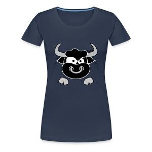 T-shirt P Femme Tête Taureau, Bull, Force, Zodiaque - T-shirt Premium Femme