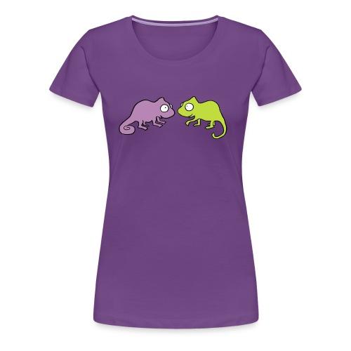 Chamäleon Damenshirt - Frauen Premium T-Shirt