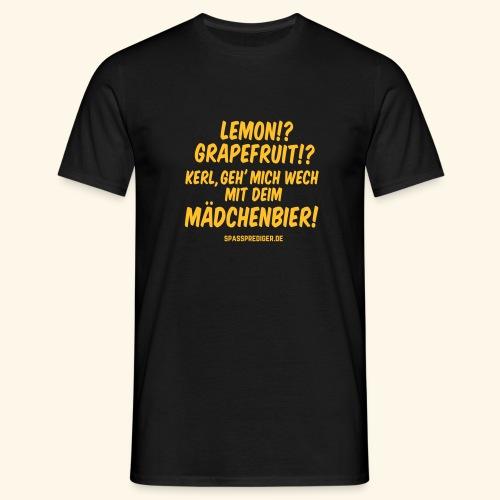 Mädchenbier - Männer T-Shirt