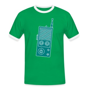 Funkgerät Walkie-Talkie 2 - Männer Kontrast-T-Shirt