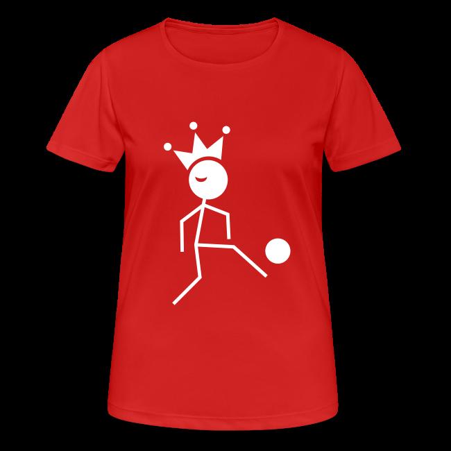 Voetbalkoningin T-shirt ademend met naam en rugnummer (wijzigbaar)