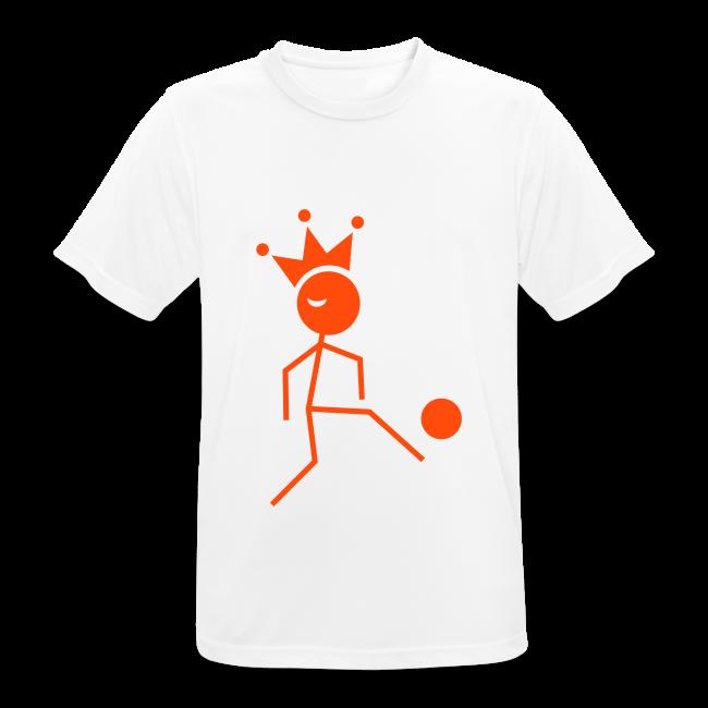 Voetbalkoning T-shirt ademend met naam en rugnummer (wijzigbaar)